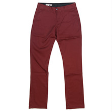 View the Volcom Frozen Chinos - Burgundy - Volcom Chino Pants  from the Jeans & Pants clothing range online today from Boarderline