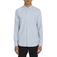 View the Volcom Oxford Stretch Shirt - Wrecked Indigo   from the Shirts clothing range online today from Boarderline