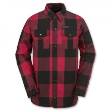 View the Volcom Pat Moore Sherpa Jacket - Red Plaid from the Jackets clothing range online today from Boarderline