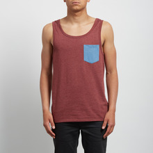 View the Volcom Pocket Vest - Crimson from the T-Shirts clothing range online today from Boarderline