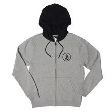 View the Volcom Stone Zip Hood - Grey from the Hoods and Crews clothing range online today from Boarderline