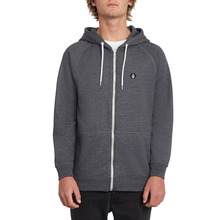 View the Volcom Timesoft Zip Hoodie - Black from the Hoods and Crews clothing range online today from Boarderline