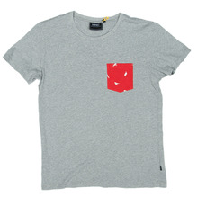 WESC Bird Up Pocket T-Shirt - Grey Melange