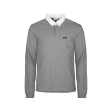 View the WESC Kelby Long Sleeve Polo Shirt - Heather Grey from the Shirts clothing range online today from Boarderline