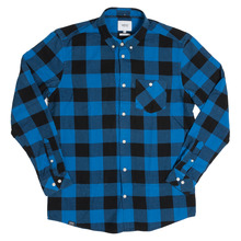 View the WeSC Olavi Shirt - Bright Blue from the Shirts clothing range online today from Boarderline
